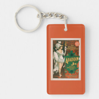 Aladdin Jr. Tale of a Wonderful Lamp Theatre 2 Double-Sided Rectangular Acrylic Keychain