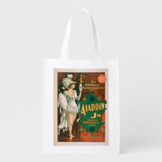 Aladdin Jr. Tale of a Wonderful Lamp Theatre 2 Reusable Grocery Bag