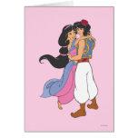 Aladdin y jazmín que abrazan 1 felicitaciones