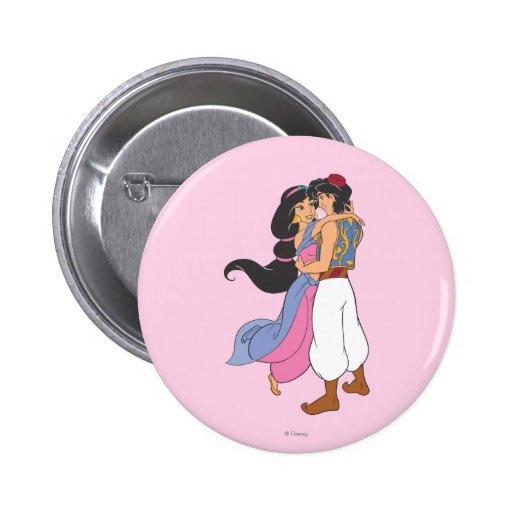 Aladdin y jazmín que abrazan 1 pin