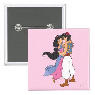 Aladdin y jazmín que abrazan 1 pins