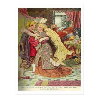 Aladdin y la lámpara maravillosa postal