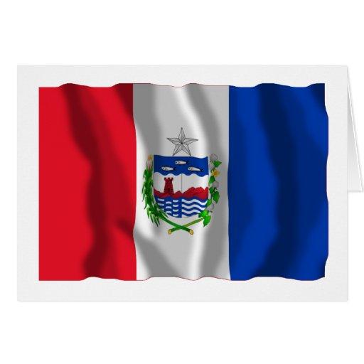 Alagoas, bandera que agita del Brasil Tarjeta De Felicitación