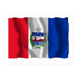 Alagoas, bandera que agita del Brasil Tarjeta Postal