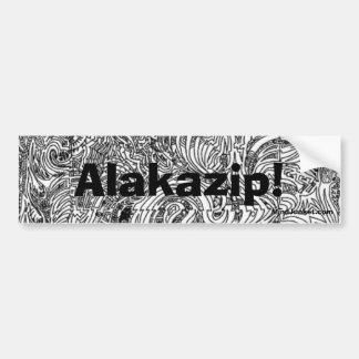 Alakazip! Bumper Stickers