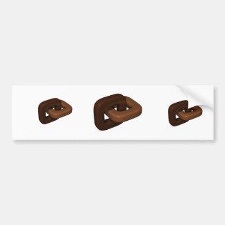 Alambrada cuadrada de Chocoloate Pegatina Para Auto