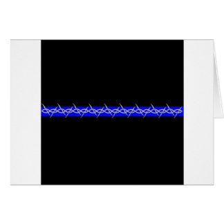 Alambre de púas Blue Line de las correcciones Tarjeta De Felicitación
