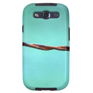 alambre de púas CONTRA EL ABS AL AZAR del FONDO de Samsung Galaxy S3 Protector