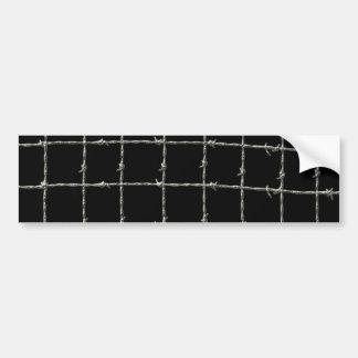 Alambre de púas en negro pegatina para auto