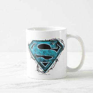 Alambre de púas y flores del logotipo de Supergirl Taza De Café