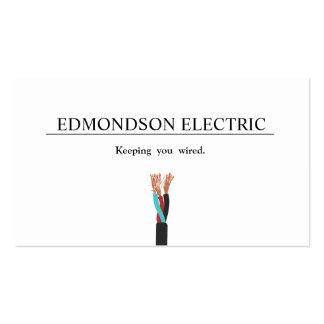 Alambre eléctrico del electricista tarjetas de visita