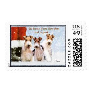 Alambres de Navidad Timbre Postal