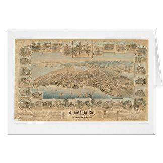 Alameda, CA. Panoramic Map (0540A) Card