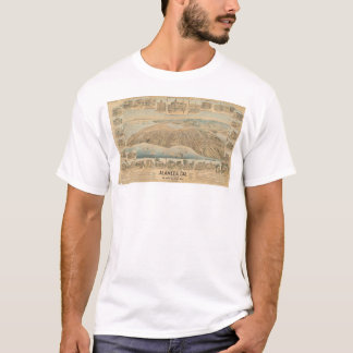 Alameda, CA. Panoramic Map (0540A) T-Shirt