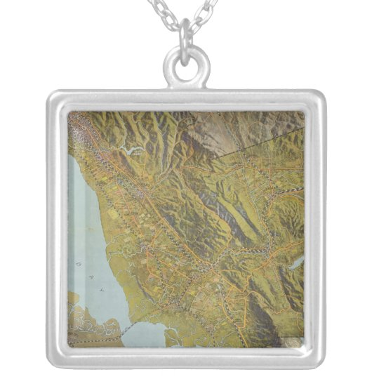 Alameda County, California Silver Plated Necklace