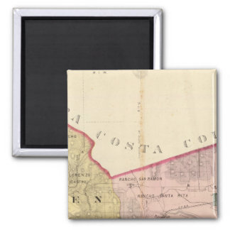 Alameda County map 2 Inch Square Magnet