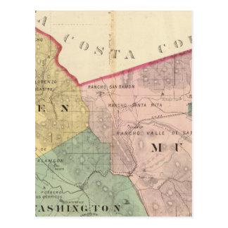 Alameda County map Postcard