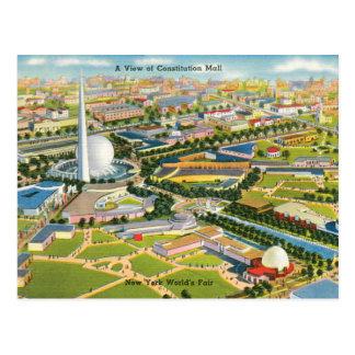 Alameda de la constitución en la feria de mundo tarjetas postales