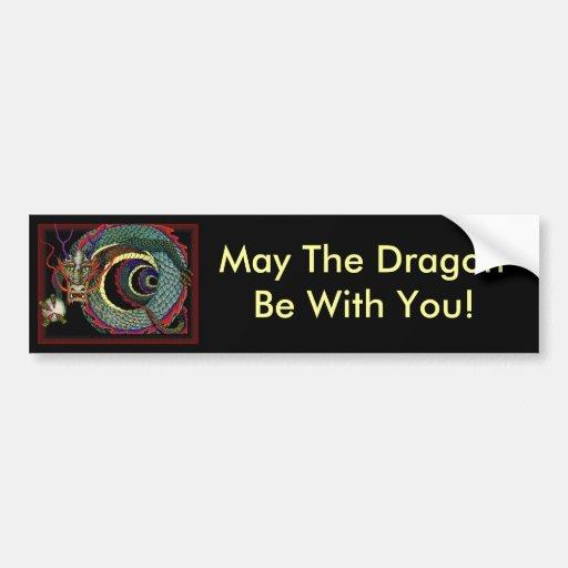 Alameda de la suerte del dragón etiqueta de parachoque