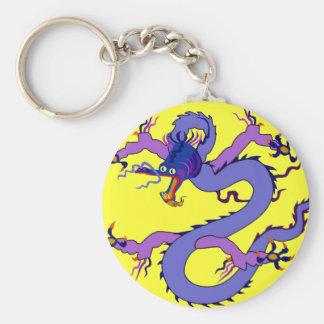 Alameda de la suerte del dragón llavero redondo tipo pin