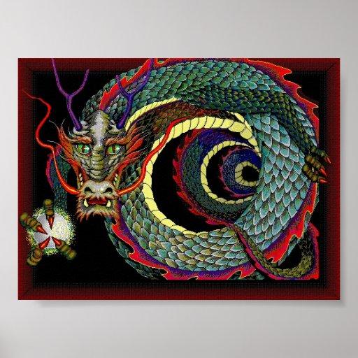 Alameda de la suerte del dragón póster