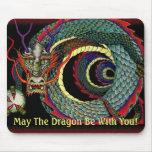 Alameda de la suerte del dragón alfombrilla de raton