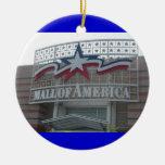Alameda del ornamento del navidad de América Adorno Navideño Redondo De Cerámica