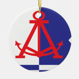 Alameda flag ceramic ornament