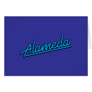 Alameda in cyan greeting card