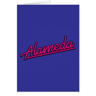 Alameda in magenta greeting card