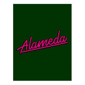 Alameda in magenta post card