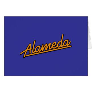 Alameda in orange cards