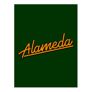 Alameda in orange postcards