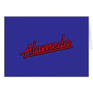 Alameda in red greeting card