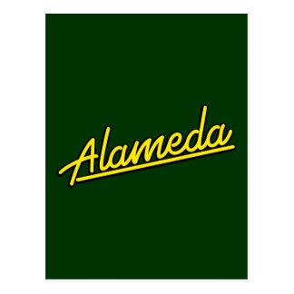 Alameda in yellow post card