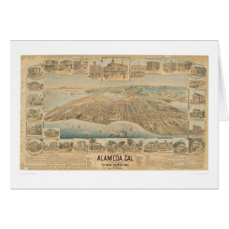 Alameda, mapa panorámico del CA (0540A) Tarjeta De Felicitación