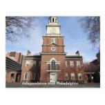 Alameda Philadelphia de la independencia de Tarjeta Postal