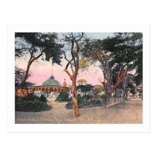 Alameda Plaza, Ponce, Puerto Rico Vintage Postcard
