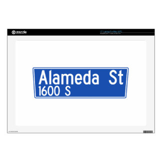Alameda Street, Los Angeles, CA Street Sign Skin For Laptop