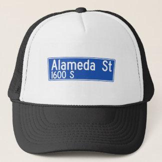 Alameda Street, Los Angeles, CA Street Sign Trucker Hat