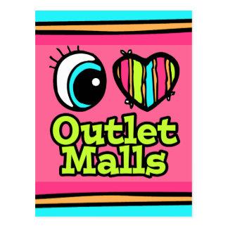 Alamedas brillantes del mercado del amor del postales