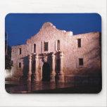 Alamo at Night Mousepads