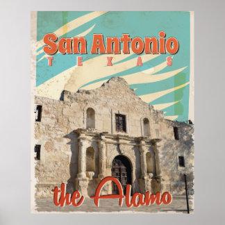 Álamo el arte del viaje del vintage de San Póster