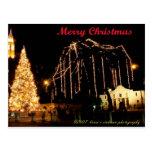 Álamo en el navidad postales