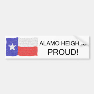 Alamo Heights Proud Car Bumper Sticker