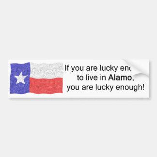 Alamo Lucky Bumper Sticker