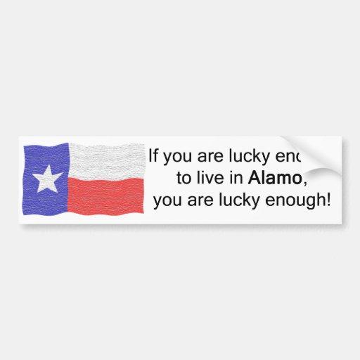 Alamo Lucky Bumper Sticker Car Bumper Sticker