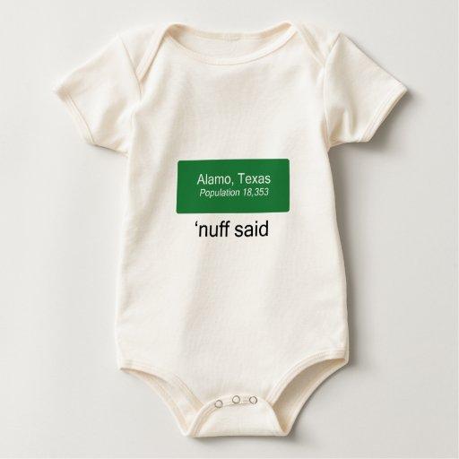 Alamo Nuff Said Baby Bodysuit