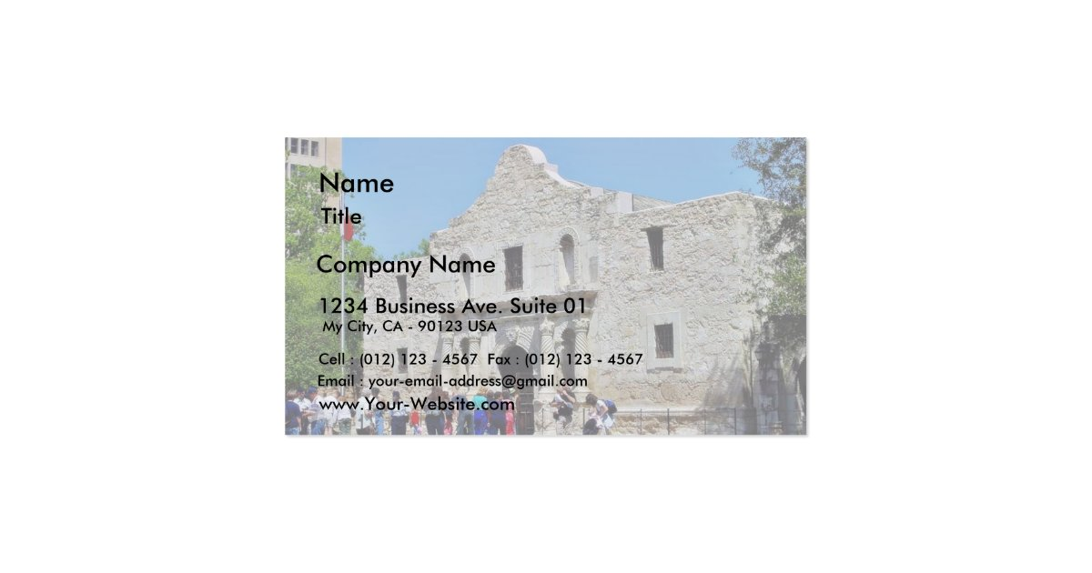 Alamo san antonio forts texas business card zazzle for Business cards in san antonio