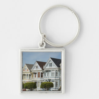 Alamo Square Victorian Houses in San Francisco Keychain